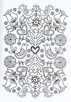 Flower Coloring Pages For Adults Printable - Free Coloring Sheets Adult Coloring Pages, Flower Coloring Pages, Printable Coloring Pages, Coloring Sheets, Coloring Books, Colouring, Printable Art, Abstract Coloring Pages, Printables