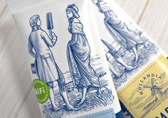 Hollandia Ice Cream — The Dieline - Branding & Packaging Design