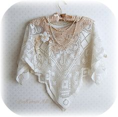 Mother of the Bride Poncho Shawl Edwardian Dolly Kei Vintage Laces