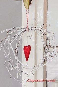 Valentine or Christmas White Christmas, Christmas Time, Christmas Wreaths, Christmas Bulbs, Christmas Crafts, Xmas, Valentine Decorations, Valentine Day Crafts, Be My Valentine