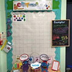 Lovely maths working wall sent to us by Twinkl member, Nancy! Maths Display Ks2, Maths Classroom Displays, Primary School Displays, Year 4 Classroom, Ks1 Classroom, Classroom Ideas, Working Wall Display, Maths Working Wall, Math Wall