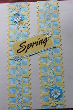 Seasons Paper and layered stickers Love Scrapbook, Scrapbook Borders, Scrapbook Designs, Scrapbook Embellishments, Scrapbook Page Layouts, Scrapbook Cards, Border Ideas, Creative Memories, Making Ideas