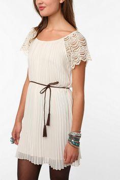 pleated dress make from skirt idea
