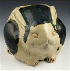 Rare Signed 18th C / 19th C Japanese Oribe Ware Figural Rabbit Planter, eBay starting bid $2195