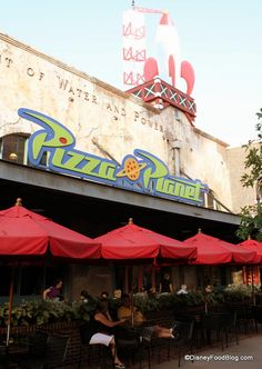 Review of Pizza Planet at Disney's Hollywood Studios  My boys will die from excitement to visit the REAL pizza planet!