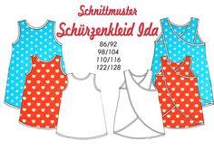Schnittmuster Schürzenkleid Ida von IsarWerke auf DaWanda.com