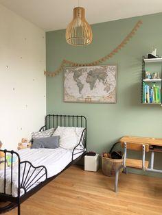 De Haute Qualite Chambre Garçon Vert Noir Bois Chambre Rétro Vintage Chambre Garcon Vintage,  Chambre Vintage, Deco