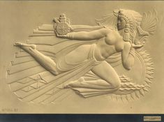 Mayan Revival Art Deco Bas Relief, by Rene Paul Chambellan.