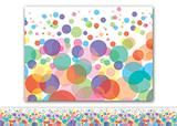 """Checkout the """"Colorful Bubbles Bulletin Board Border, Straight"""" product"""