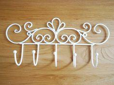 Iron-French-Provincial-Hook-Rack-Elegant-Scrolls-001 - Chic Fabric ebay