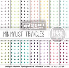 #triangles #boho #geometric #minimalism #Backgrounds #bloggerswanted https://www.etsy.com/mx/listing/173623920/basicos-fondos-papel-triangulos
