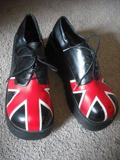 Union Jack shoes.