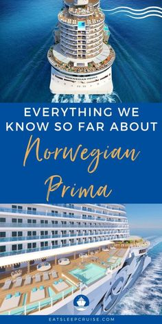 Everything We Know About Norwegian Prima So Far | In this exclusive first look, we share everything we know about Norwegian Cruise Line's newest ship Norwegian Prima so far. The brand new cruise ship will offer more outdoor space, many firsts for the brand, and the largest cabins to date. Cruise Checklist, Packing List For Cruise, Cruise Tips, Cruise Travel, Cruise Vacation, Vacations, Cruise Excursions, Cruise Destinations, Transatlantic Cruise