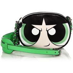 Moschino Powerpuff Shoulder Bag (4.610 NOK) ❤ liked on Polyvore featuring bags, handbags, shoulder bags, apparel & accessories, chain crossbody, leather crossbody, shoulder handbags, leather shoulder bag and leather cross body purse
