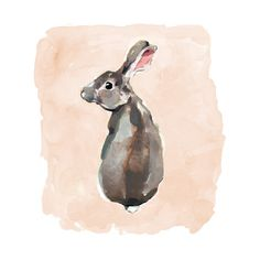 """""""Wild Rabbit"""" - Art Print by Betty Hatchett in beautiful frame options and a variety of sizes."""