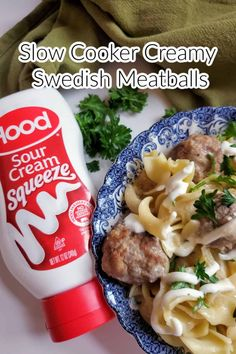 Slow cooker Creamy Swedish Meatballs are an easy and satisfying meal to make for any day of the week. Slow Cooker Creamy Swedish Meatballs are like a traditional Swedish dish with perfectly browned, flavorful homemade meatballs coated in a rich cream sauce that is slow-cooked. The rich creamy sauce enhances the flavor of the meatballs and is tender with every bite. via @Mooreorlesscook Swedish Meatballs Crockpot, Meatballs And Gravy, How To Cook Meatballs, Crock Pot Meatballs, Crockpot Recipes, Snack Recipes, Cooking Recipes, Swedish Dishes, Creamy Sauce