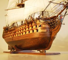 HMS Victory model ship head details