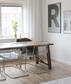 Ikea translucent 'Tobias' chairs @interiorbyelin_