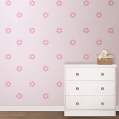 Bring the pink trend to life on your own walls with these stylish Pink Daisy MiniPops