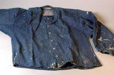 Skjorta av vit och blårandig bomullskypert. Sex 9d0e53d798afd