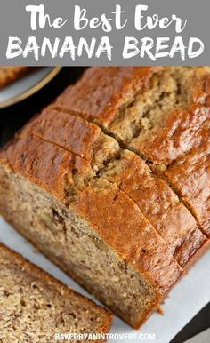 This Best EVER Banana Bread recipe is the only one you will ever need! It's easy, flavorful, and will quickly become your new favorite. #bread #banana #bakedbyanintrovertrecipes