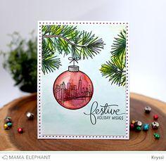 mama elephant | design blog: MAMA ELEPHANT 3RD ANNIVERSARY STAMPEDE - DAY 3! Festive holiday wishes