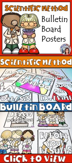 Scientific Method Posters for your elementary classroom bulletin boards! Primary Science, Elementary Science, Science Fair, Science Lessons, Teaching Science, Science Projects, Student Learning, Upper Elementary, Teaching Resources