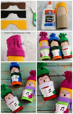 Toilet Paper Roll Christmas Carolers- cute craft for the kids!