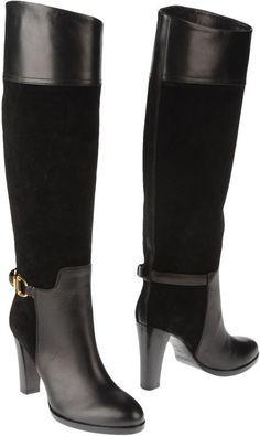 Ralph Lauren Collection Black High Heeled Boots