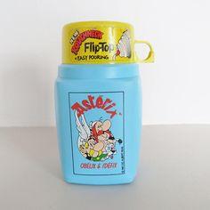 Thermos Asterix Vintage children flask astérix and obelix
