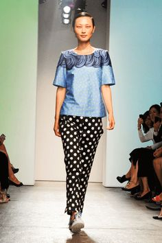 Marimekko S/S 2013 in New York Fashion Week Photo: Billy Farrell Agency