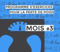 Programme d'exercices pour la perte de poids : mois #3