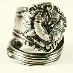 Art Nouveau Morning Glory Sterling Silver Spoon Ring by Spoonier, $73.00