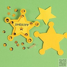 """6. #""""Sheriff"""" Badge #Craft Kit - 8 Great #Play-Date Crafts ... #Patrick"""
