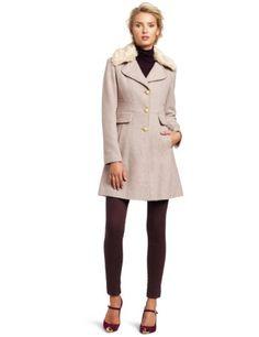 Blush Tweed Peplum Bow Back Coat