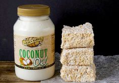Coconut Oil Rice Crispy Treats  - Powered by @ultimaterecipe