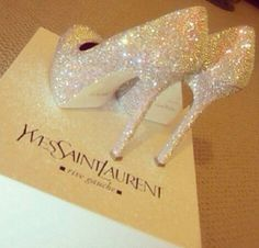For the bride who loves to #sparkle these YSL shoes are for her!