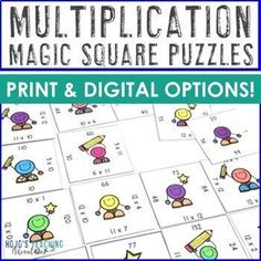 Digital Multiplication Practice | Google Classroom Distance Learning Math - Let 3rd, 4th, or 5th grade students master basic math fact skills with paper and pencil OR digitally using Google Slides. Great for review, centers, at home learning, test prep, Critical Thinking Activities, Critical Thinking Skills, Math Multiplication Games, Math Fact Practice, 5th Grade Classroom, Basic Math, Math Facts, Google Classroom, Math Teacher