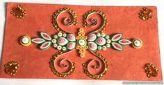 Floral designs Shagun envelope in hand made paper decorated with paper quilling.