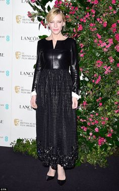 Cate Blanchett in Chanel Pre-Fall 2016 at BAFTA nominees party in London on February 12, 2016