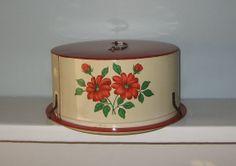 Vintage DECOWARE Metal Floral Cake Carrier by Merchantsofvintage, $18.00