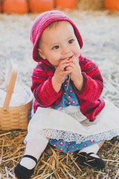Little Red Riding Hood | Toddler Baby Halloween Costume idea  http://katrinalouise.com/blog