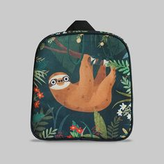 Excited to share the latest addition to my #etsy shop: Rybka - Small Backpack 2-3 Years, Kids Backpack, Toddler Bag, Preschool Kids, Playgroup bag, Sloth http://etsy.me/2CeShWZ #bagsandpurses #backpack #black #green #kids #toddlerbag #preschoolkids #playgroupbag #gift