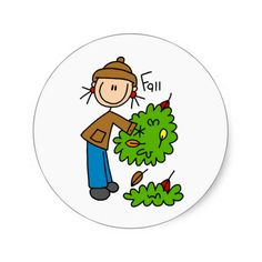 The Fallen Leaves Of Autumn Bag Round Sticker