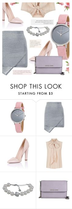 """Feminine"" by jomashop ❤ liked on Polyvore featuring Skagen, Paper Dolls and MaxMara"