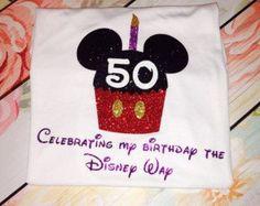 Mickey Inspired Cupcake Birthday Glitter Shirt