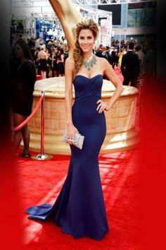 5304902789f Mermaid Royal Blue Celebrity Prom Party Dress Maria Menounos