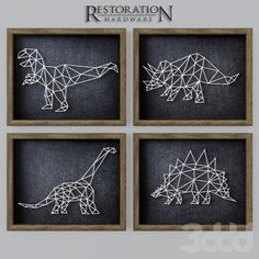 model Dinosaur String Art RH brontosaurus decor, formats include MAX, OBJ, ready for animation and other projects String Art Templates, String Art Patterns, Crafts For Kids, Arts And Crafts, Diy Crafts, Resin Crafts, Hilograma Ideas, String Art Diy, Art Origami