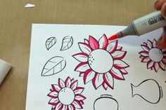 How to use markers and a blender pen for a soft blended look on stamped cards.