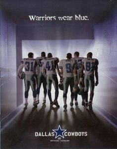 Dallas Cowboys Warriors wear BLUE